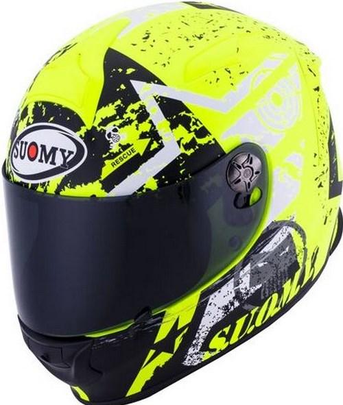SUOMY Full Face Helmet SR-SPORT, Color: STARS YELLOW | SR-SPORT