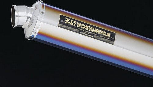 YOSHIMURA / ヨシムラ JMCA approved フルエキゾーストシステム Hand Bent LEPTOS CB1300SF 08-/CB1300SB 08-13 (TTB) - チタン ブルー カバー | 110-41E-8880B