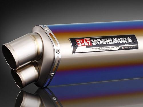 YOSHIMURA / ヨシムラ JMCA approved フルエキゾーストシステム Tri-Oval Dual Exit GSX1300R 08- (TTB) - チタン ブルー カバー | 110-509-8980B