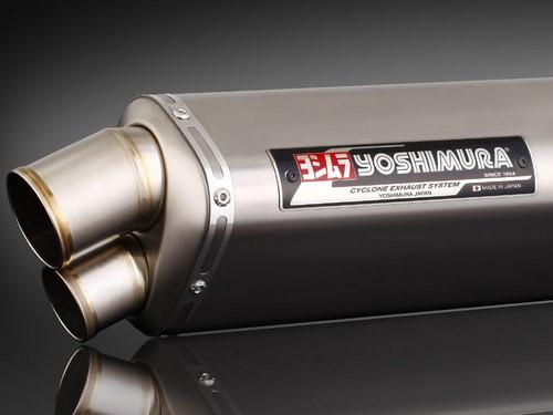 YOSHIMURA / ヨシムラ JMCA approved フルエキゾーストシステム Tri-Oval Dual Exit GSX1300R 08- (TT) - チタン カバー | 110-509-8980